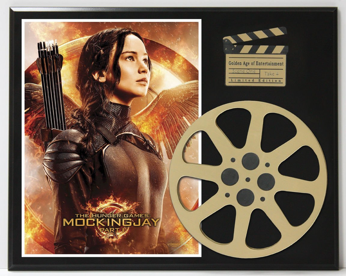 HUNGER GAMES MOCKING JAY LTD EDITION MOVIE REEL DISPLAY