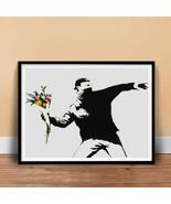 BANKSY FLOWER BOMBER GRAFFITI STREET SPRAY ART POSTER PRINT GIFT THROWER - $24.72