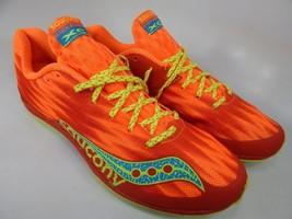 Saucony Kilkenny XC5 Spikeless Size 8 M (B) EU 39 Womens Flat Track Shoes Orange