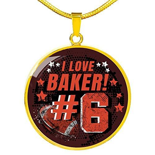 I Love Baker Number 6 Stainless Steel-Silver Tone Or 18k