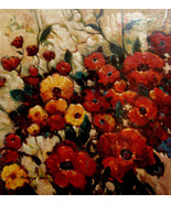"""Wild Flowers by Kanayo Ede. Oil Painting on Canvas. 32"""" x 35"""" - $1,900.00"""