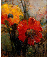 "Textured Petals by Kanayo Ede. Giclee print on canvas. 20"" x 24"" - $125.00 - $200.00"