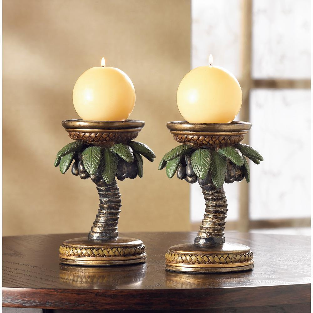 Coconut tree candleholders  1