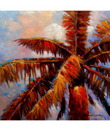 "Royal Palms 1 by Kanayo Ede. Giclee Print on Canvas. 24"" x 24"" - $155.00+"