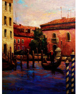 "Venice Sunset by Kanayo Ede. Giclee print on canvas. 24"" x 30"" - $190.00+"