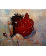 "'Fall Leaf' by Kanayo Ede. Giclee print on canvas. 40"" x 30"" - $295.00+"