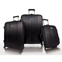 Travelers Choice Black Rome 3-Piece Hardside Spinner Lightweight Luggage... - $139.99