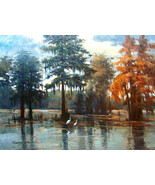 "River Reflections by Kanayo Ede. Giclee print on canvas. 30"" x 40"" - $295.00+"