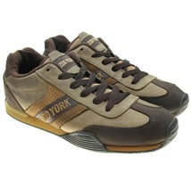 Zoo York Mens Size 12 Brown Leather Fashion Sneakers Street Wear Shoes - $24.74