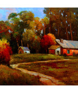"Red Barn by Kanayo Ede. Giclee Print on canvas. 30"" x 30"" - $230.00+"