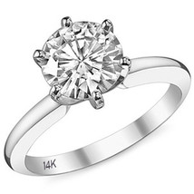 2CTW Womens Unique 14K WG Forever Brilliant Moissanite Solitaire Engagement Ring - £880.95 GBP