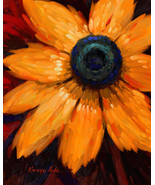 "Sunflower by Kanayo Ede. Giclee print on canvas. 24"" x 30"" - $190.00+"