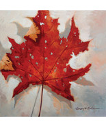 "Red Leaf by Kanayo Ede. Giclee print on canvas. 30"" x 30"" - $230.00+"