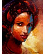 """Aisha by Kanayo Ede. Giclee print on canvas. 24"""" x 30"""" - $190.00+"""