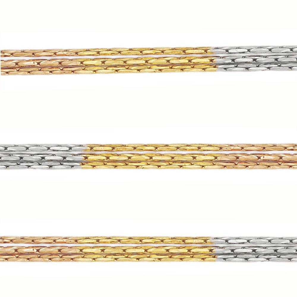 Unique 14k Yellow Rose Gold Coverd 925 Silver Boston Cardano Link Multi Chain