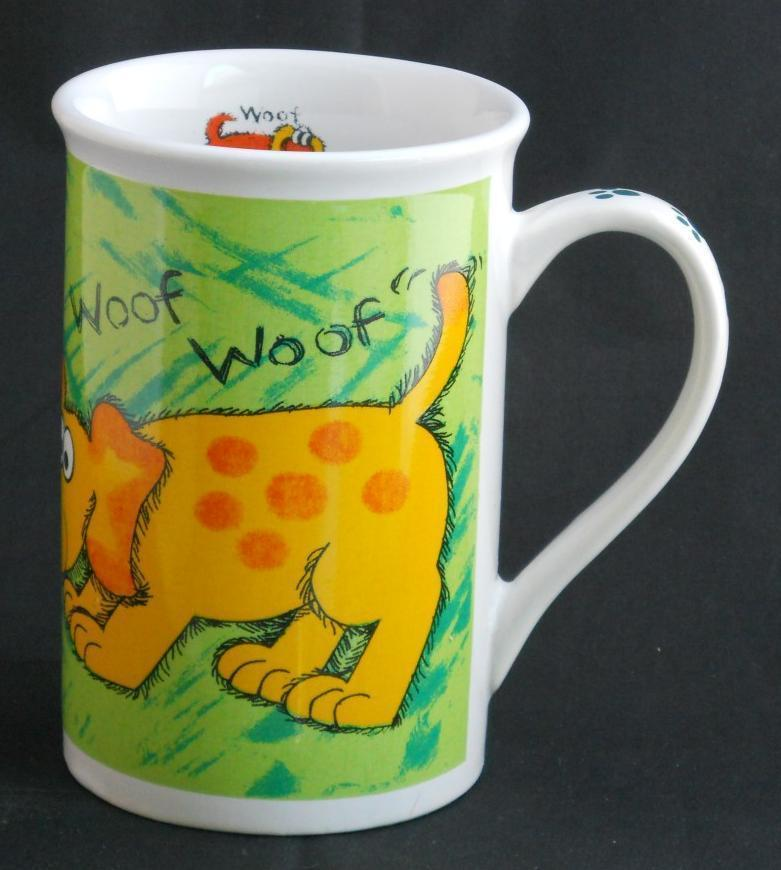 Primary image for Dog Woof Bee Mouse Cup Mug Funny Humorous Paw Prints