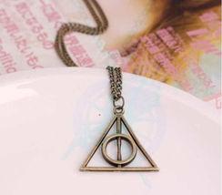 Bronze Triangular Pendant Long Necklace - $2.50