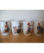 1986 Museum Collection, Inc. Norman Rockwell 4 pc. Coffee/Tea Mugs  - $35.00