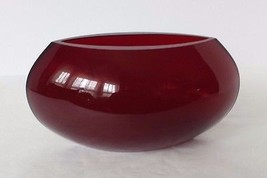 Ruby Red Oval Vase - $24.74