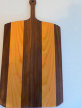 "Cutting board/ serving tray, made from cherry and walnut, 22"" x 12"" x 3/4"" - $30.00"
