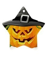 Star Ornaments - Halloween Bats Pumpkin Full Moon Star Ornaments Christmas  - £2.98 GBP