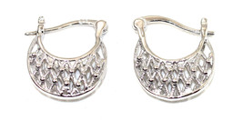 eli k Womens Sterling Silver 925 Open Weave Bas... - $32.61
