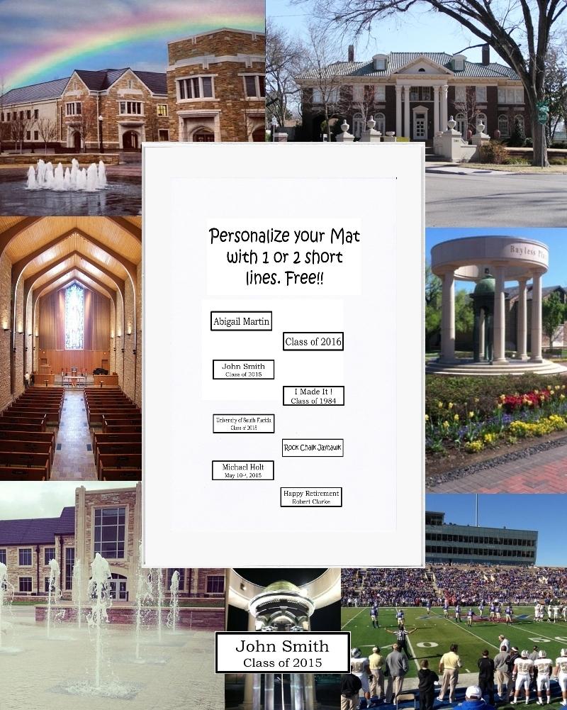 University of tulsa picture frame mat unique graduation