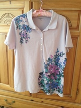 woman's lavender floral top size extra large by crofts & barrowh - $24.99