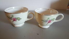 2 Vintage Dinnerware Homer Laughlin  Priscilla Cups - $4.59