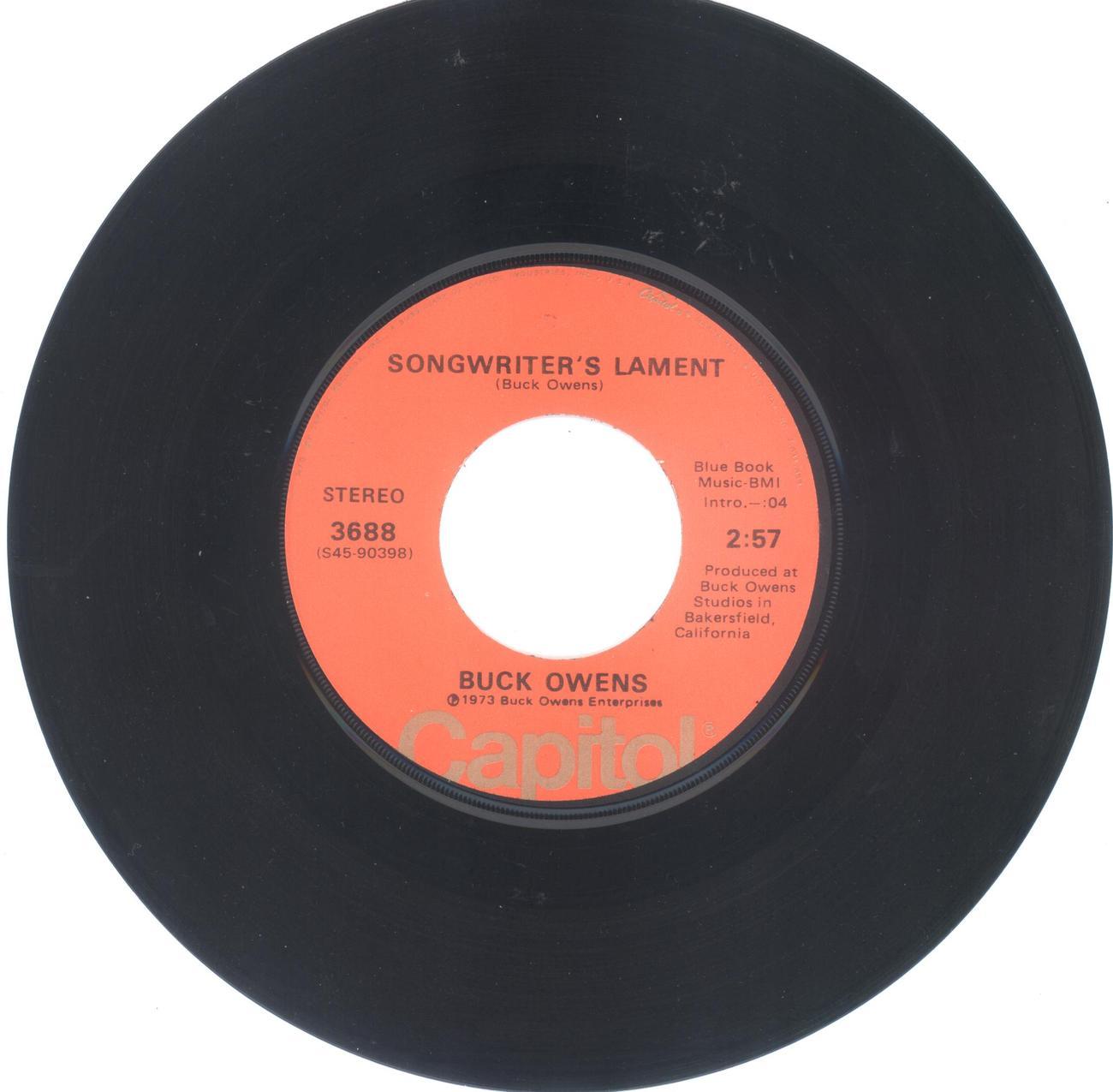 Buck owens songwriter s lament
