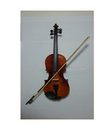 Student Acoustic Violin Full 1/2 Maple Spruce with Case Bow Rosin Yellow... - $53.99