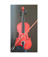 Student Acoustic Violin Full 4/4 Maple Spruce with Case Bow Rosin Red Color - $53.99
