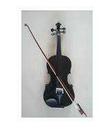 Student Acoustic Violin Full 4/4 Maple Spruce with Case Bow Rosin Black ... - $53.99