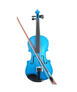 Student Acoustic Violin Full 1/4 Maple Spruce with Case Bow Rosin Blue C... - $53.99