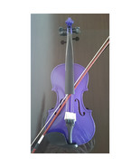 Student Acoustic Violin Full 4/4 Maple Spruce with Case Bow Rosin Purple... - $53.99