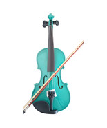 Student Acoustic Violin Full 3/4 Maple Spruce with Case Bow Rosin Green ... - $53.99