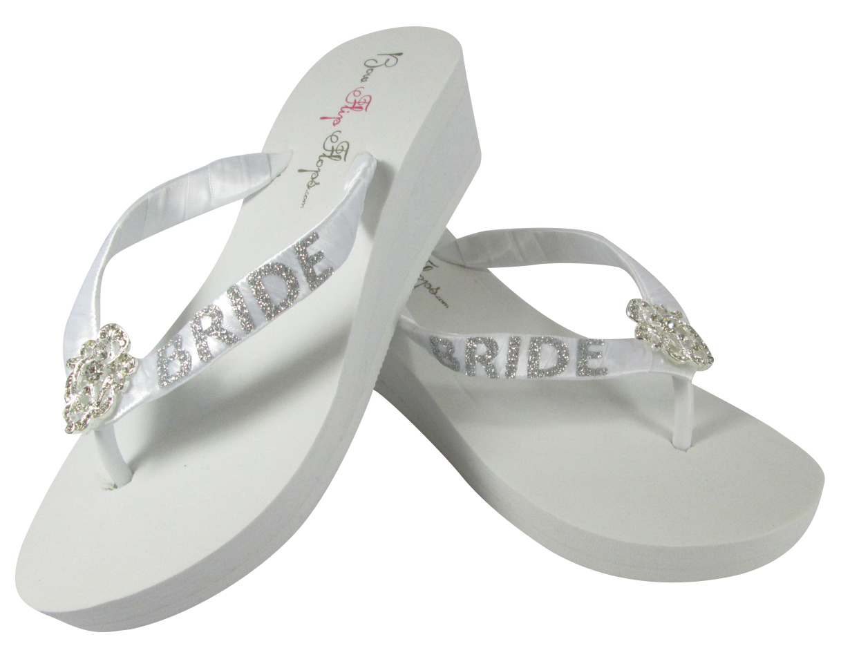 623050a6a1649 Vintage Lace with Silver Bride Flip Flop and 17 similar items