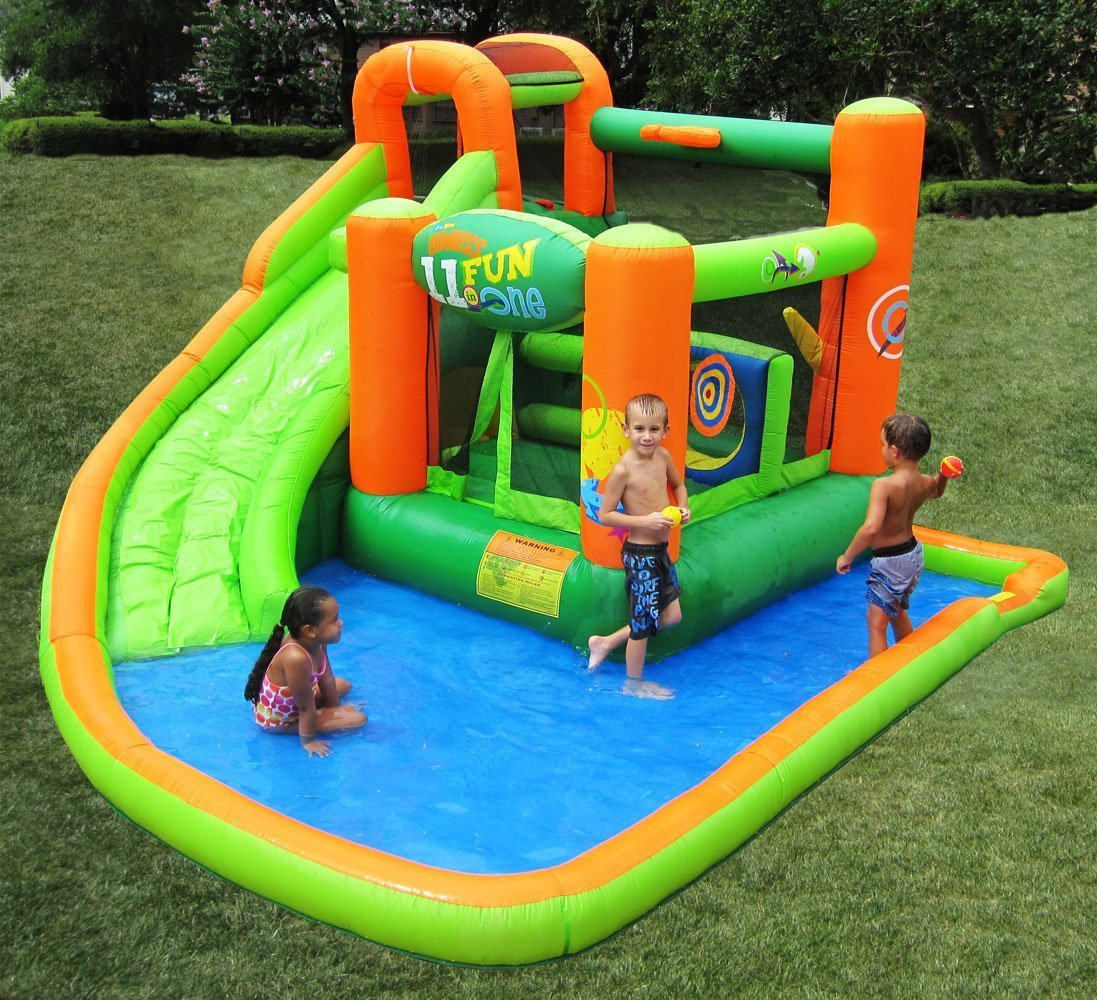 Inflatable Water Slide Bounce House Outdoor Birthday Party ...