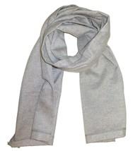 DOLCE & GABBANA Mens Scarf Solid Heather Gray 100% Virgin Wool Italian M... - $117.81
