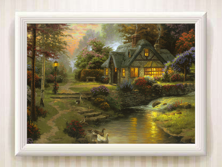 Landscape Art Streams of living Oil Painting Print On Canvas Home Decor Art 179