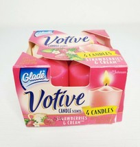Vintage 1998 Glade Votive Candle Scents Strawberries & Cream (3 Left) - $18.99