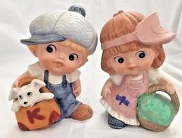 Vintage set of 2 Homco #1439...Little Boy and Little Girl Figurines.  Ni... - $4.99