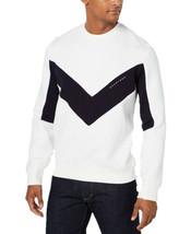 Sean John Men's Chevron Pieced Sweater (White, 4 XL) - $67.28