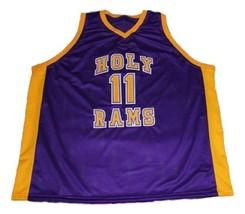 John Wall #11 Holy Rams High School Basketball Jersey New Sewn Purple Any Size image 4
