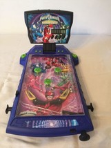 Power Rangers Time Force Tabletop Electronic Pinball Game 2001 Saban. Li... - $24.00
