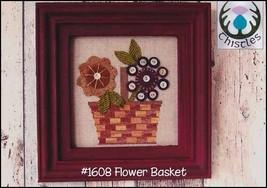 Flower Basket cross stitch chart Thistles - $6.30