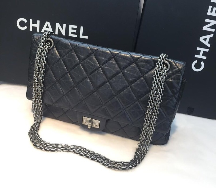 77626e764f6fcd Authentic Chanel Classic 2.55 Reissue 227 Black Double Flap Bag SHW -  Handbags & Purses
