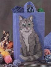 Feline Friend Totebag Cat NEW Annie's Plastic Canvas Pattern Leaflet - $4.02