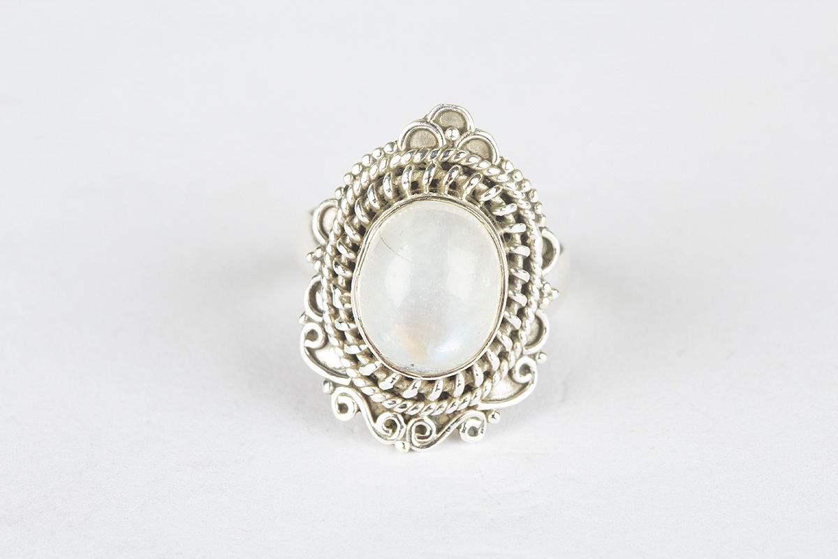 unique rainbow moonstone gemstone sterling silver ring all
