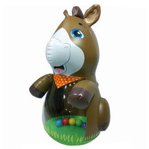 Thick Large Tumbler Inflatable Horse PVC Toy - $30.99